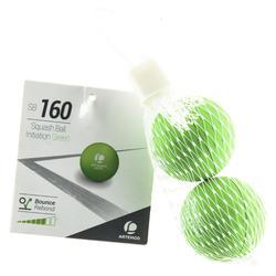 Pelota de Squash ARTENGO SB 160 Verde Iniciación