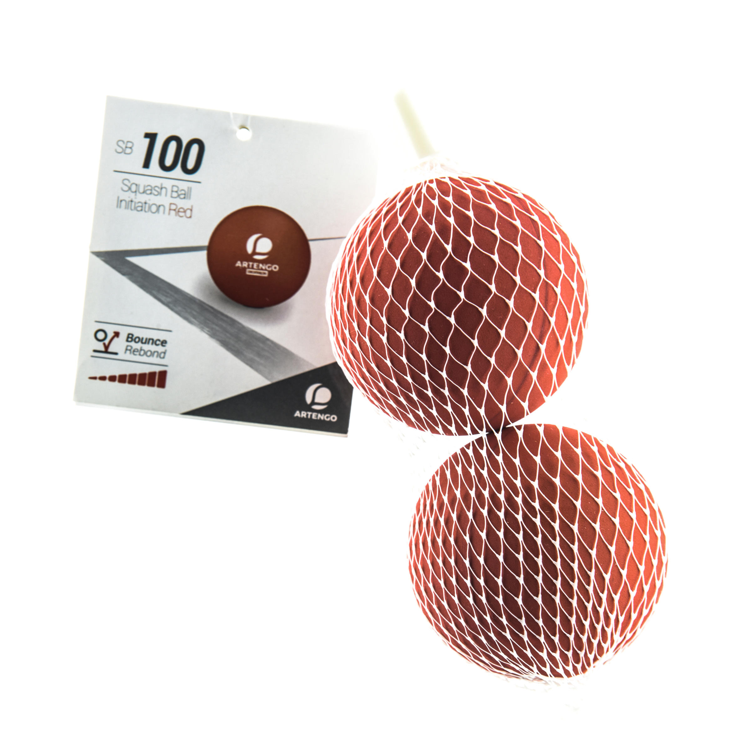 SB 100 Beginner Squash Ball Twin-Pack - Red