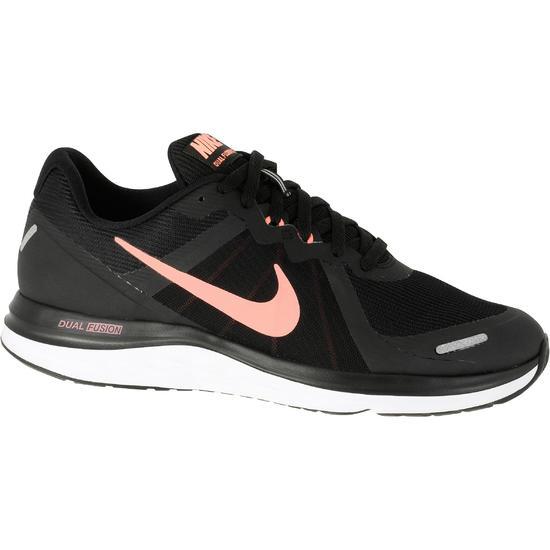 Hardloopschoenen Nike Dual Fusion zwart roze - 141790