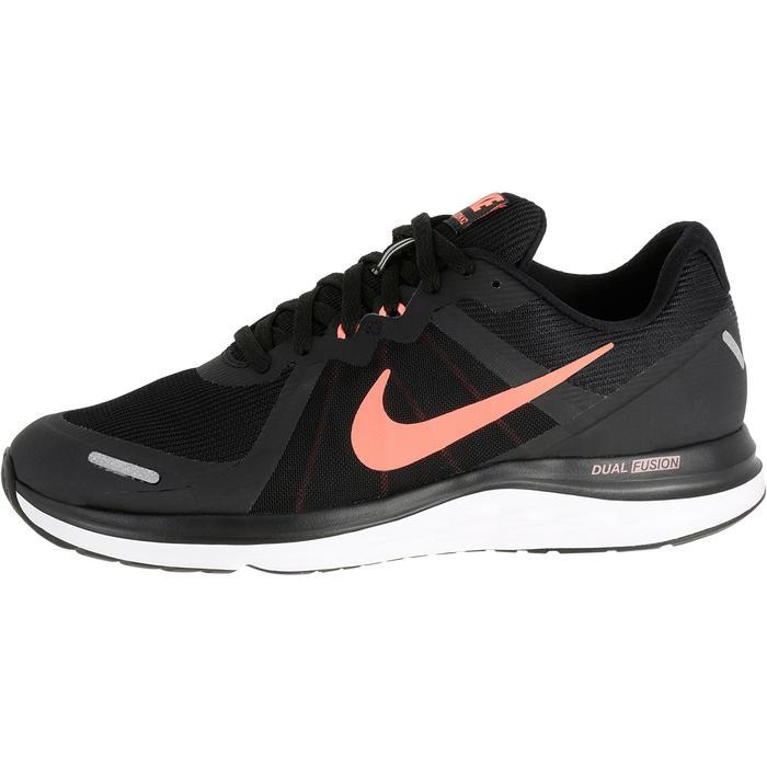 timeless design 75d11 ef371 Zapatillas de jogging running mujer NIKE DUAL FUSION X2 negro