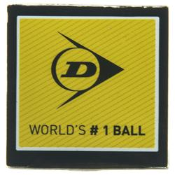BALLE DUNLOP SQUASH PRO Double Point Jaune