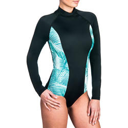 Dani Women's Long Sleeve Back Zip One-Piece Swimsuit - Bondi
