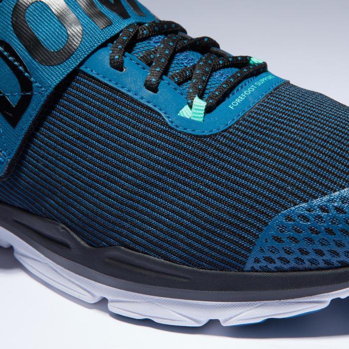 Chaussures fitness cardio-training  500 mid femme bleu et - 1418371