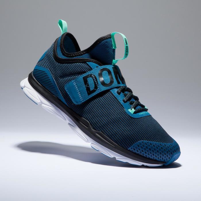Chaussures fitness cardio-training  500 mid femme bleu et rose - 1418372