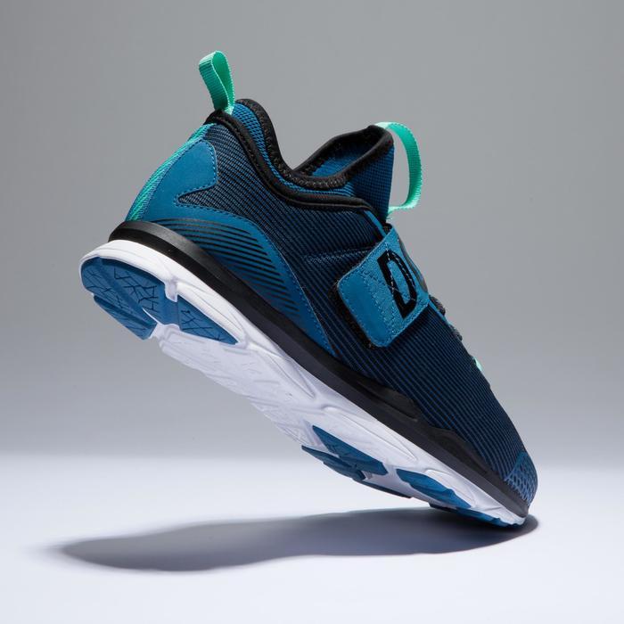 Chaussures fitness cardio-training  500 mid femme bleu et - 1418374
