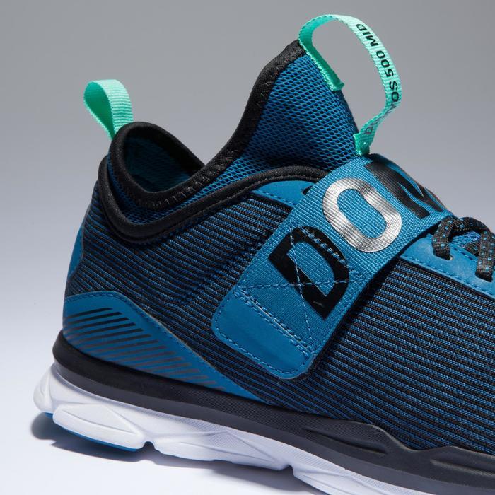 Fitnessschuhe Cardio 500 Mid Damen blau/grün