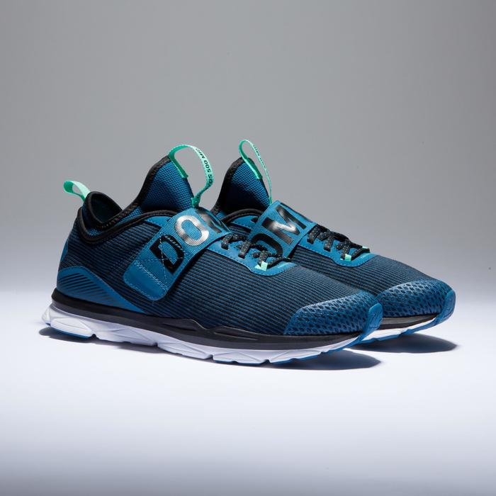 Chaussures fitness cardio-training  500 mid femme bleu et - 1418378