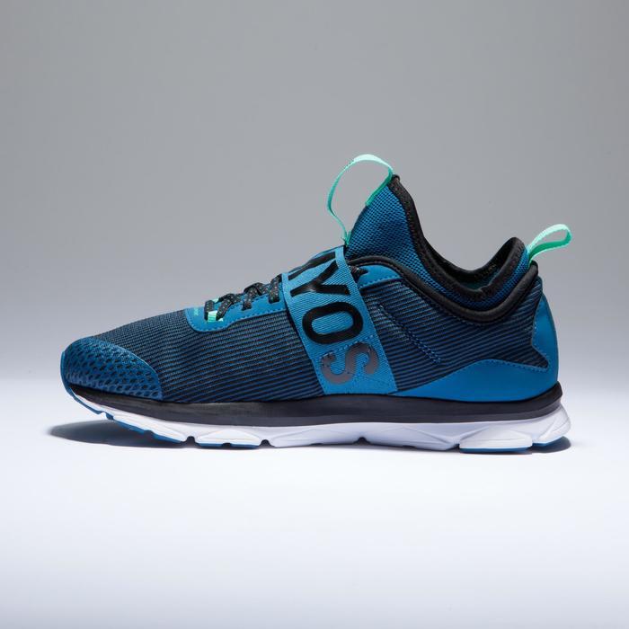 Chaussures fitness cardio-training  500 mid femme bleu et rose - 1418379
