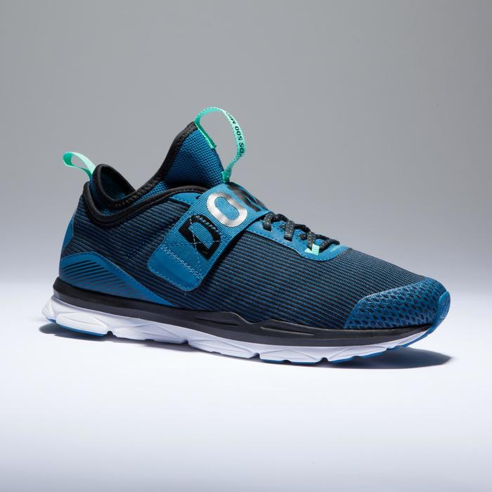 Chaussures fitness cardio-training  500 mid femme bleu et - 1418381
