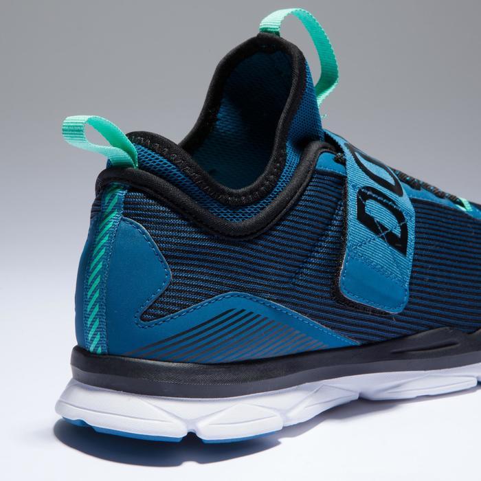 Chaussures fitness cardio-training  500 mid femme bleu et rose - 1418382