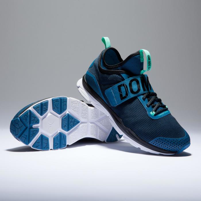 Chaussures fitness cardio-training  500 mid femme bleu et - 1418383