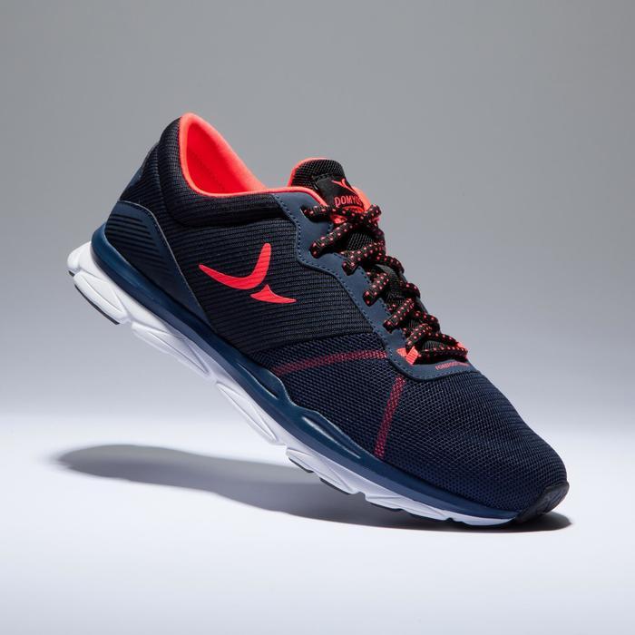 Chaussures fitness cardio-training 500 femme bleu et - 1418387