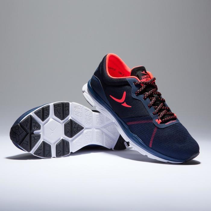 Chaussures fitness cardio-training 500 femme bleu et - 1418388
