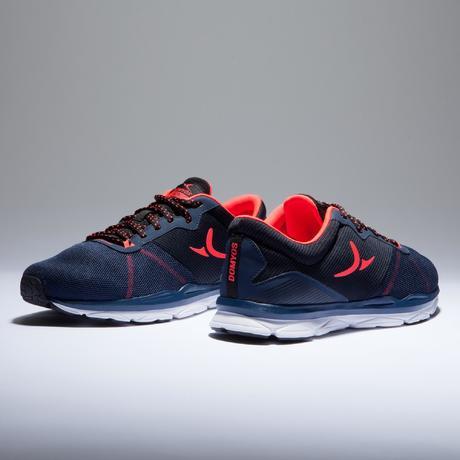 c4ea66f82e Chaussures fitness cardio-training 500 femme bleu et corail   Domyos ...
