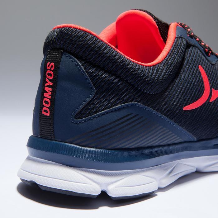 Zapatillas fitness cardio-training 500 mujer Azul y Coral