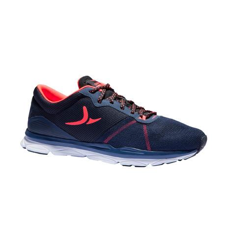 d40b6d519b926 Chaussures fitness cardio-training 500 femme bleu et corail | Domyos by  Decathlon