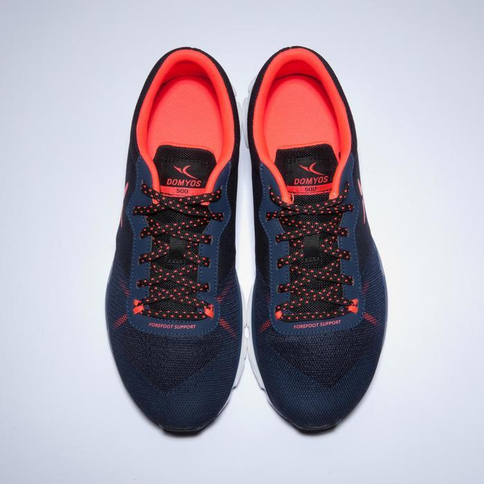 Chaussures fitness cardio-training 500 femme bleu et - 1418399