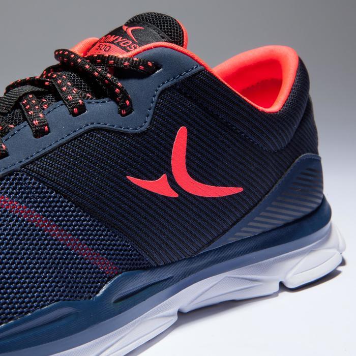 Chaussures fitness cardio-training 500 femme bleu et - 1418400