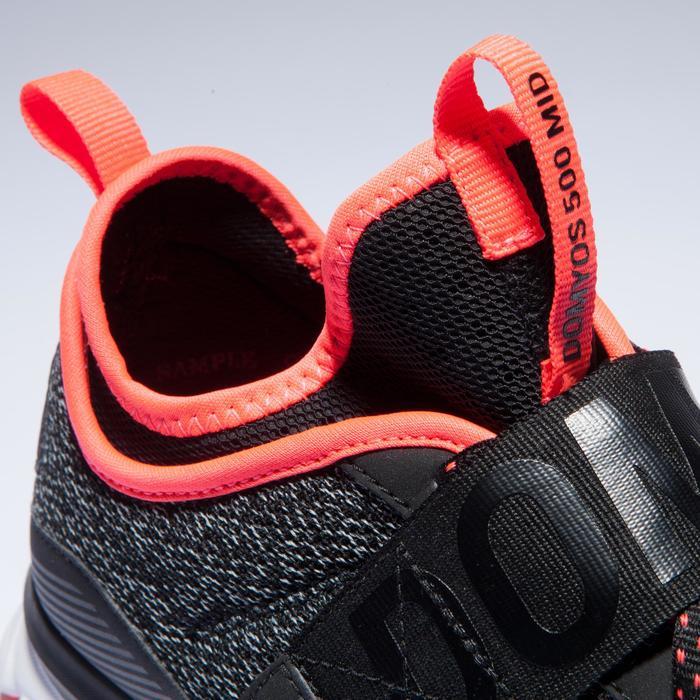 Zapatillas gimnasio Fitness Cardio Domyos 500 Mid hombre negro rosa