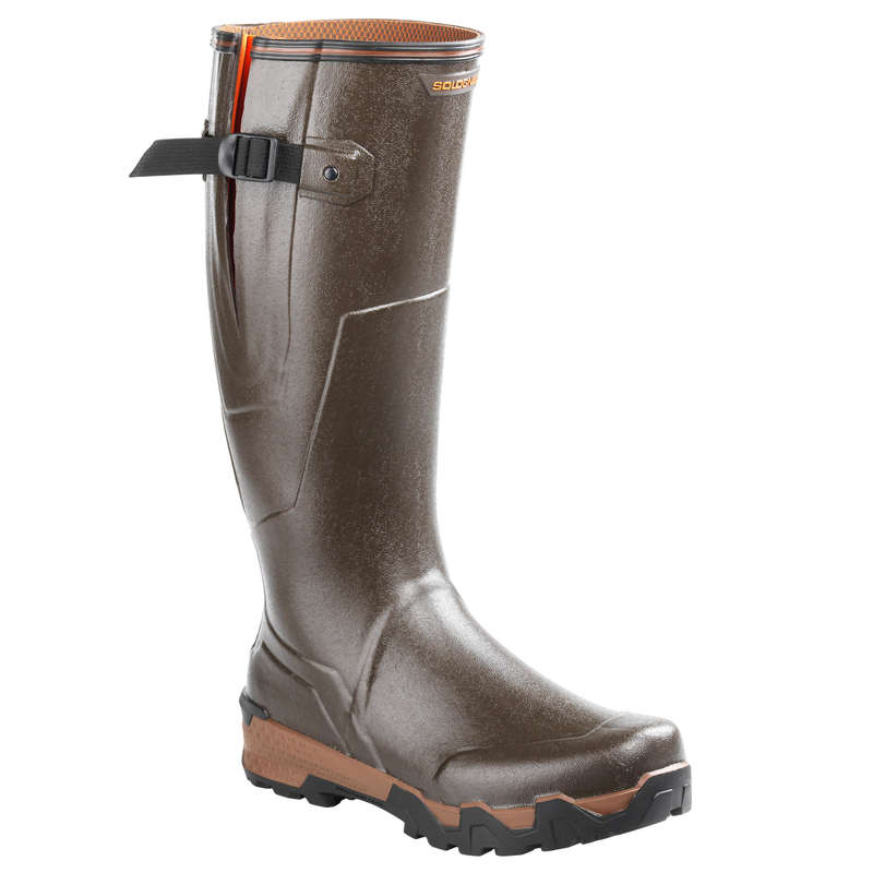 WELLIES Shooting and Hunting - RENFORT 920 BOOTS GUSS. BROWN SOLOGNAC - Shooting and Hunting