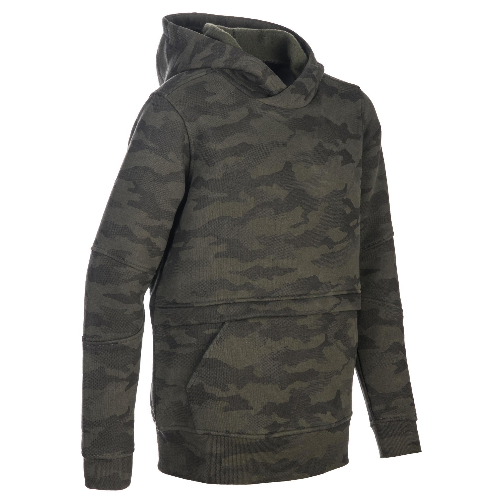Solognac Kindersweater voor de jacht SG500 camouflage