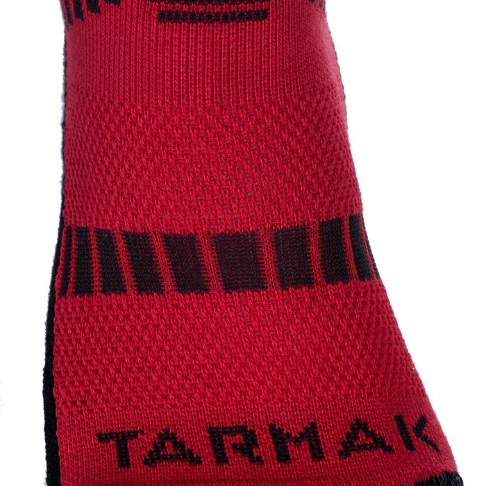 Mid 500 Kids' Intermediate Basketball Socks - Red/Black