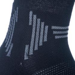 2 paar halfhoge basketbalsokken voor gevorderde kinderen zwart