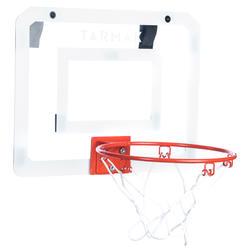 Mini B Deluxe Kids'/Adult Basketball Wall-Mounted Backboard Set