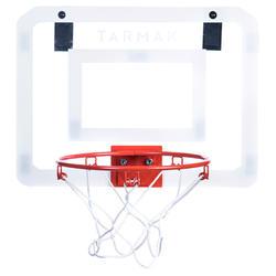 兒童/成人籃球套組 Mini B Deluxe將吊鉤吊在門上。