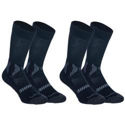 Kids' Mid Basketball Socks For Intermediate Players Twin-Pack - Black