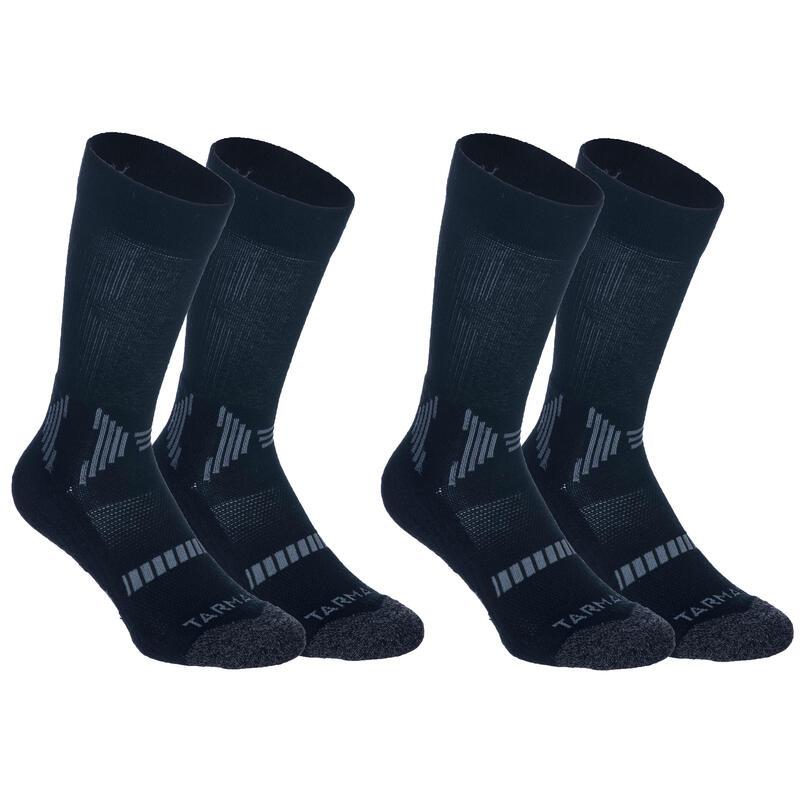 Çocuk Basketbol Çorabı - 2 Çift - Siyah - MID500