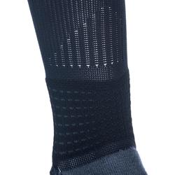 成人款進階中筒籃球襪SO900-黑色/灰色