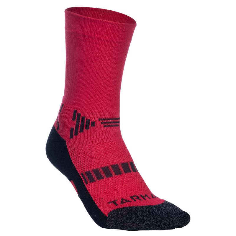 KIDS BASKETBALL FOOTWEAR - Basketball Socks - Red/Black TARMAK