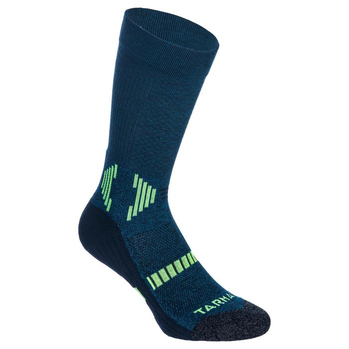 Kids' Mid Basketball Socks For Intermediate Players - Blue/Yellow