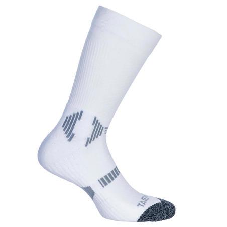 Lot de deux chaussettes MID de basketball blanches - Enfants
