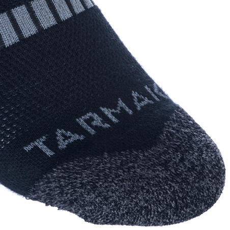 Lot de 2 paires de chaussettes de basketball SO500 mid noires - Hommes/Femmes