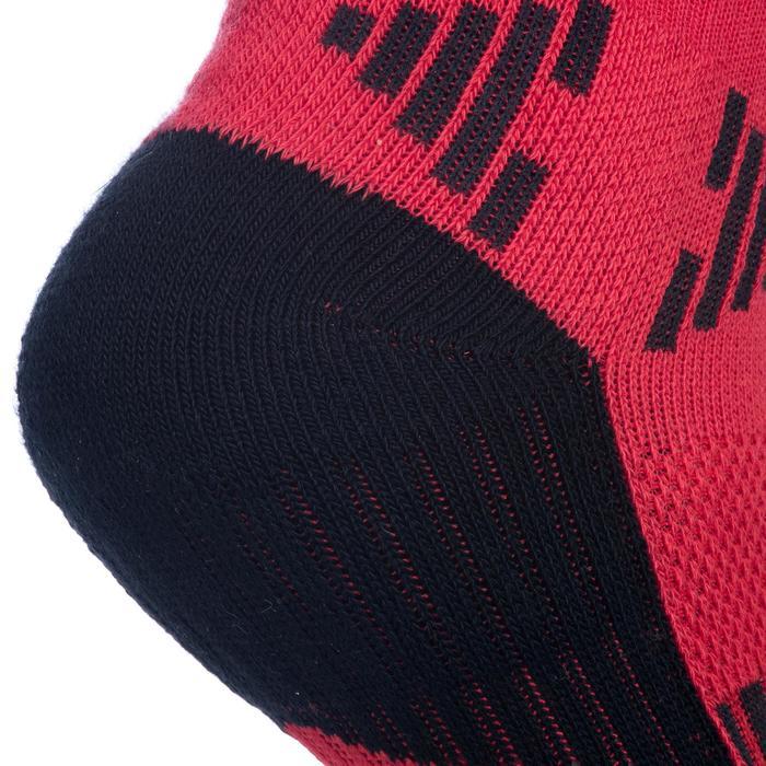 Basketbalsokken Mid 500 voor kinderen halfgevorderden rood zwart
