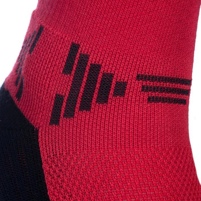 Basketballsocken Mid Kinder rot/schwarz
