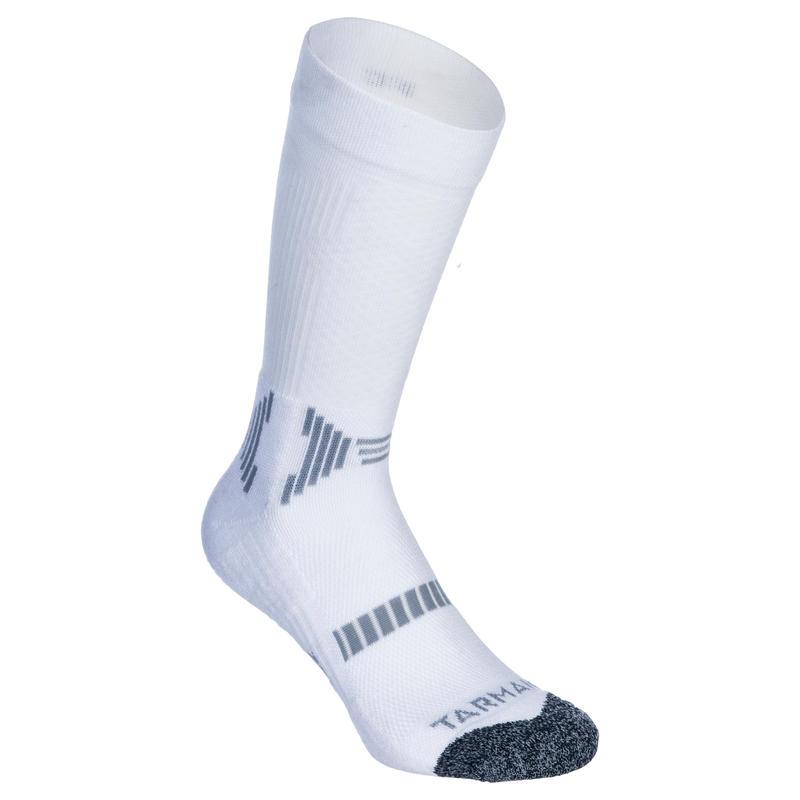 ถุงเท้าบาสเก็ตบอลทรงสูงของเด็ก แพ็คละ 2 คู่ สำหรับผู้เล่นมือใหม่/ผู้เล่นขั้นสูง (สีขาว)