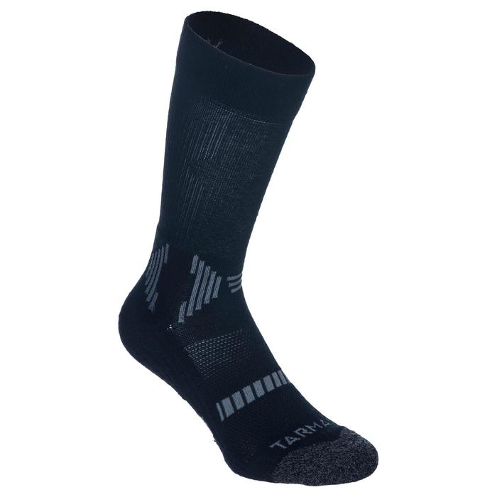 Basketballsocken Mid 500 Damen/Herren 2er-Pack schwarz