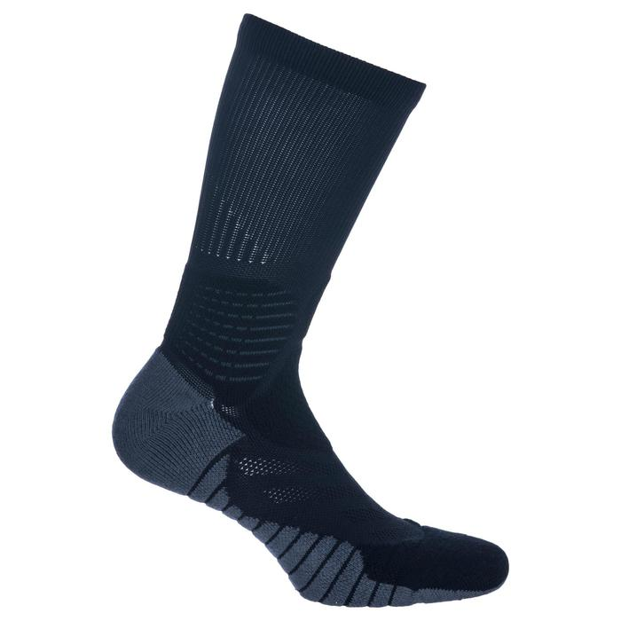 Men's/Women's Mid-Rise Basketball Socks SO900 - Black/Grey