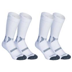 Calcetines Largos Baloncesto Tarmak 500 Blanco Lote de 2 Pares