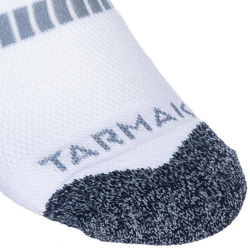 500 Mid-Length Basketball Socks Twin-Pack - White