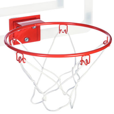 Mini B Deluxe Kids' / Adult Basketball Wall-Mounted Backboard Set