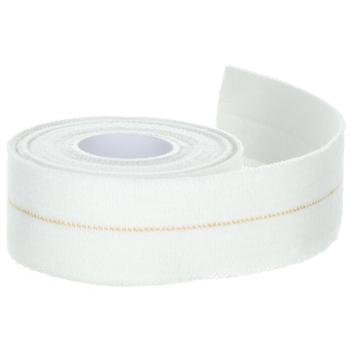 Venda autoadherente elástica de 3 cm x 2,5 m blanca, para vendajes de sujeción.