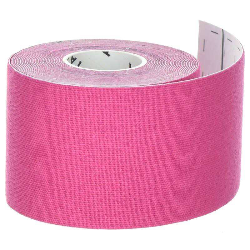 JOINT / MUSCLE SUPPORTS Recovery and Injury - Kinesiology Strap - Pink TARMAK - Supports Straps and Tape