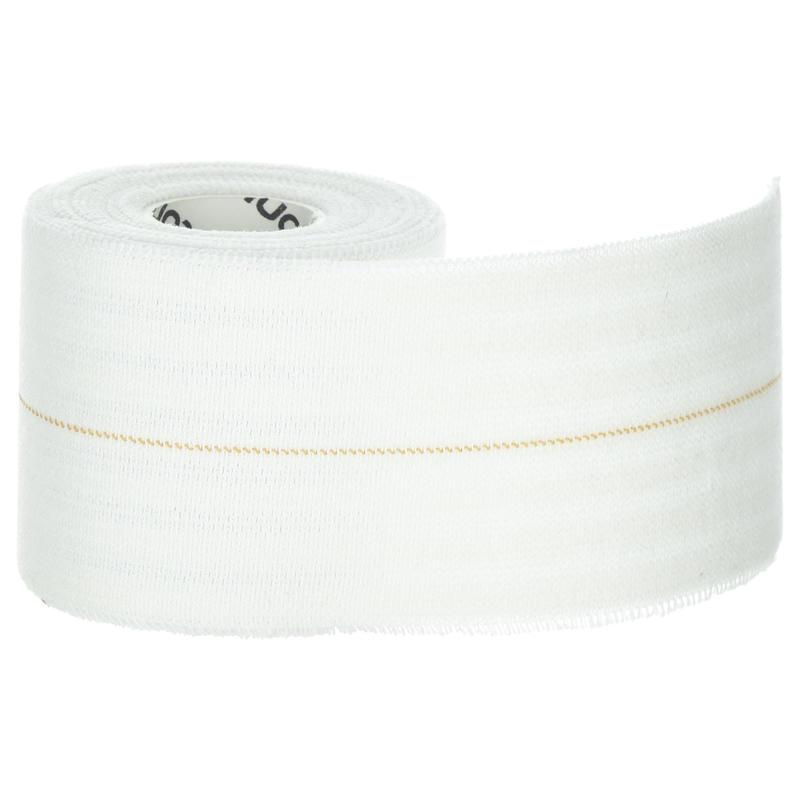 Venda autoadherente elástica de 6 cm x 2,5 m blanca, para vendajes de sujeción.
