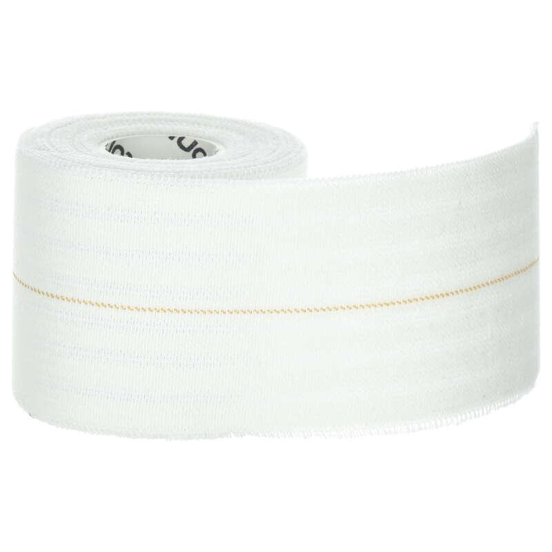 Protecţii glezne/genunchiere Sustinere musculara si articulara - Bandă Elastică 6 cm alb TARMAK - Alimentatie si Recuperare