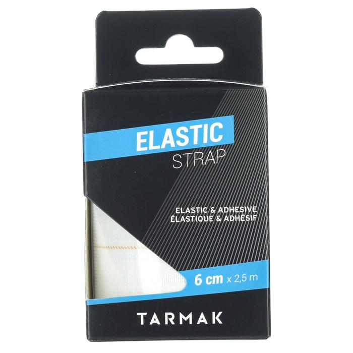 Bande de strap élastique 3cm x 2,5m blanche pour tous vos strapping de maintien. - 1418638
