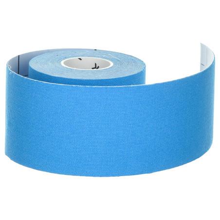 Bande de maintient kinésiologie 5 cm X 5 m bleue
